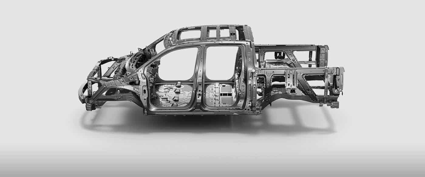 2019 Honda Ridgeline Uni-Body Contruction
