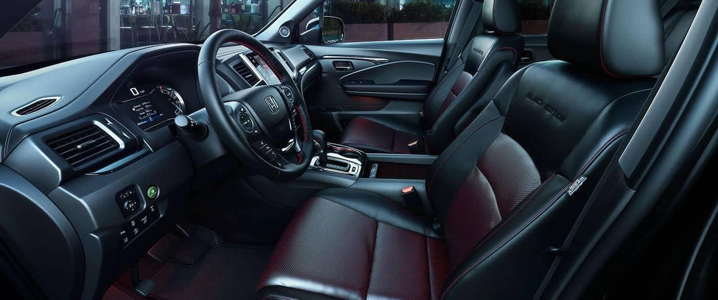 2019 Honda Ridgeline Leather Interior Black Edition Seating