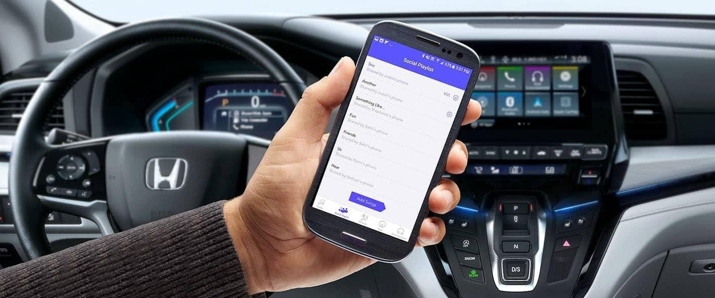 2019 Honda Odyssey Cabin Control App on Smartphone