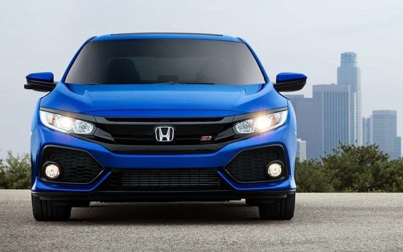 2019 Honda Civic si in Aegean Blue Metallic