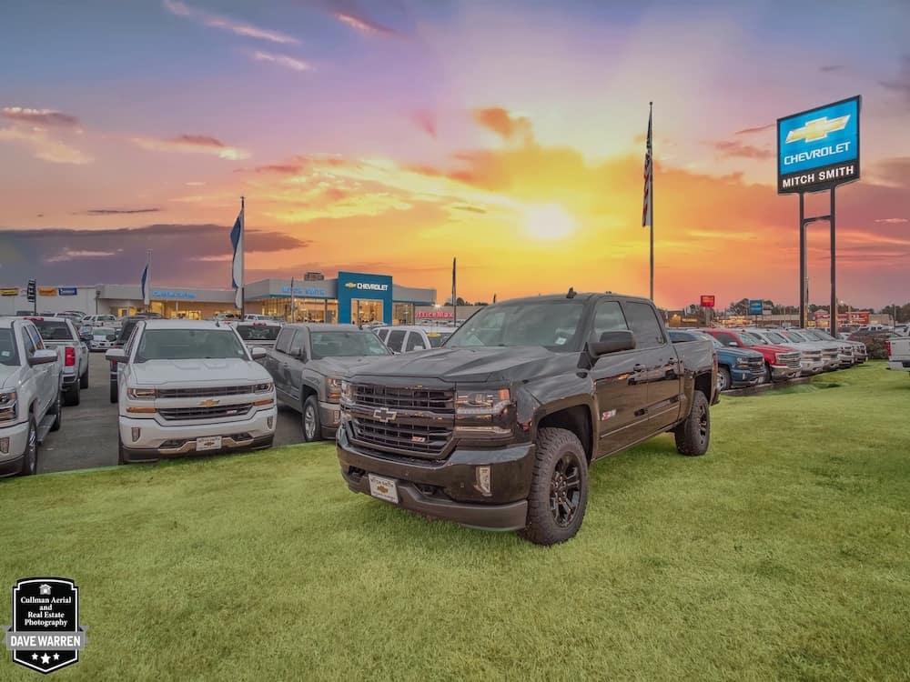silverado truck in grass