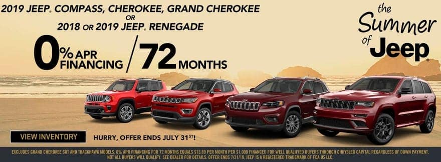Jeep sale four vehicles banner