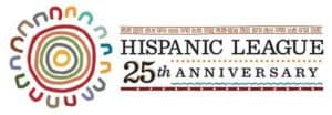 Hispanic league anniversary logo
