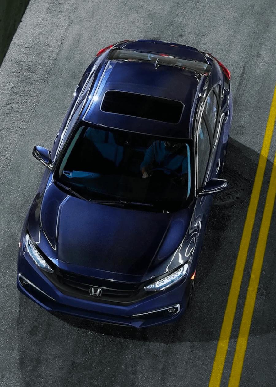 Down View of Honda Vehicle