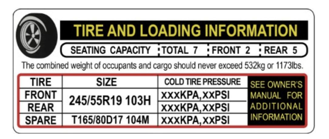 Tire Loading Info