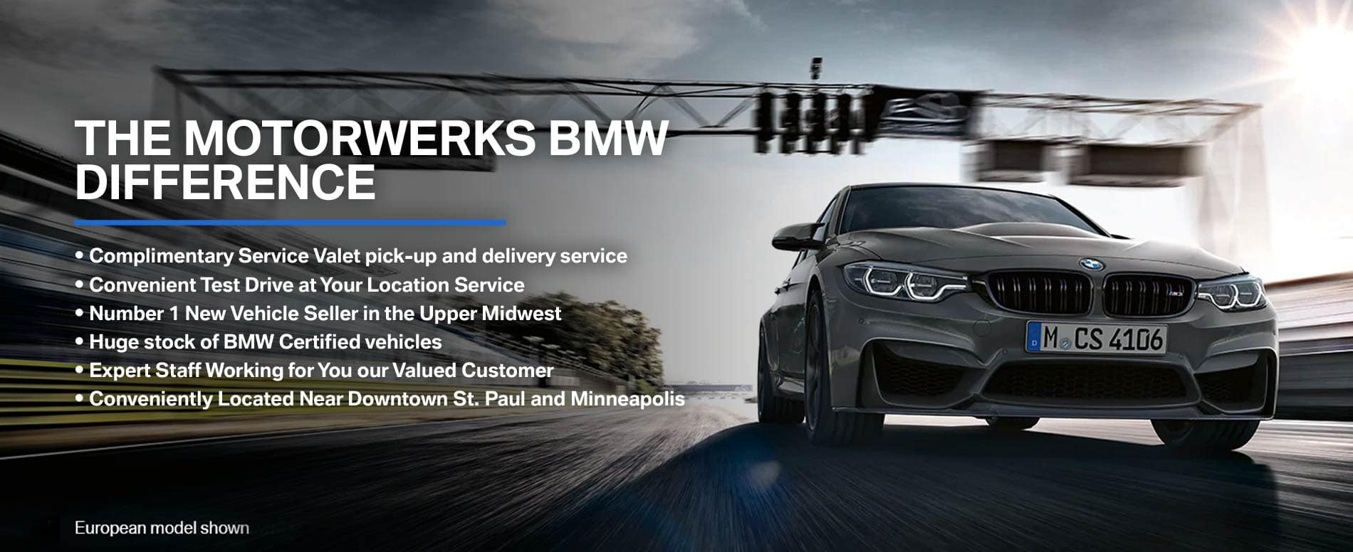 The Motorwerks BMW difference banner