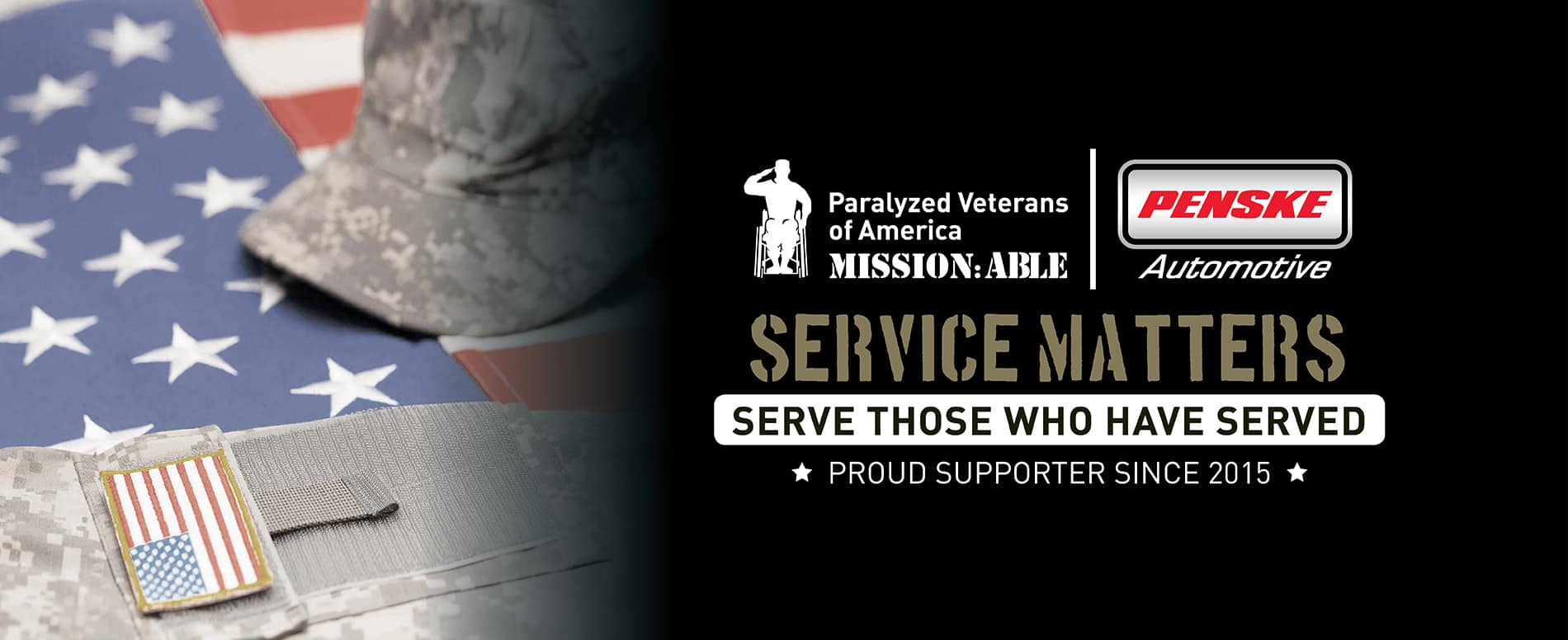 Military service banner