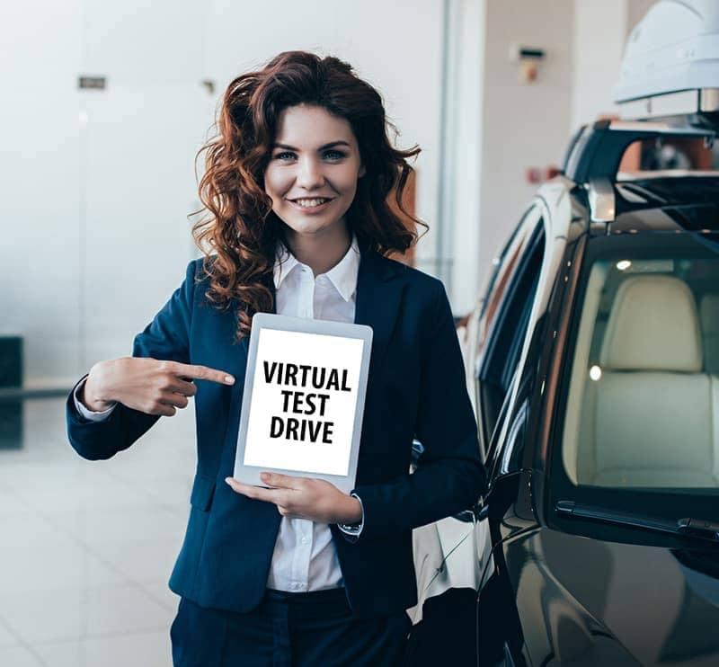 vitural test drive lady