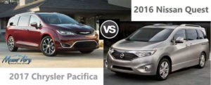 Compare the 2017 Chrysler Pacifica vs. Nissan Quest
