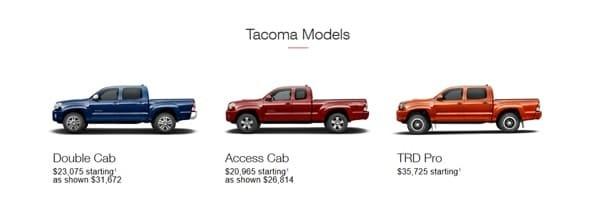Tacoma Models