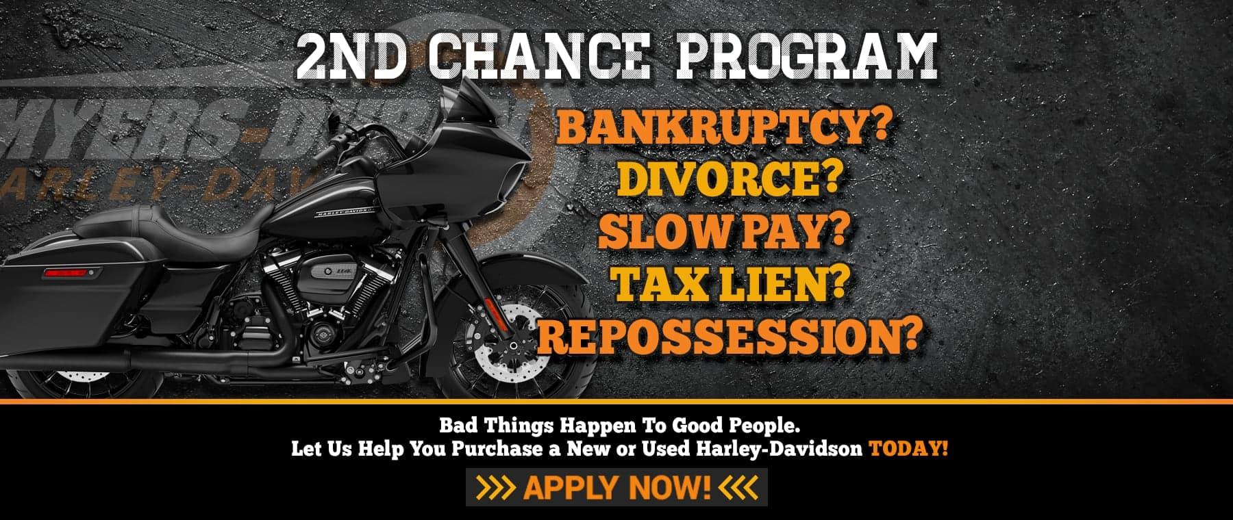 2nd Chance Financing at Myers-Duren Harley-Davidson in Tulsa, Oklahoma