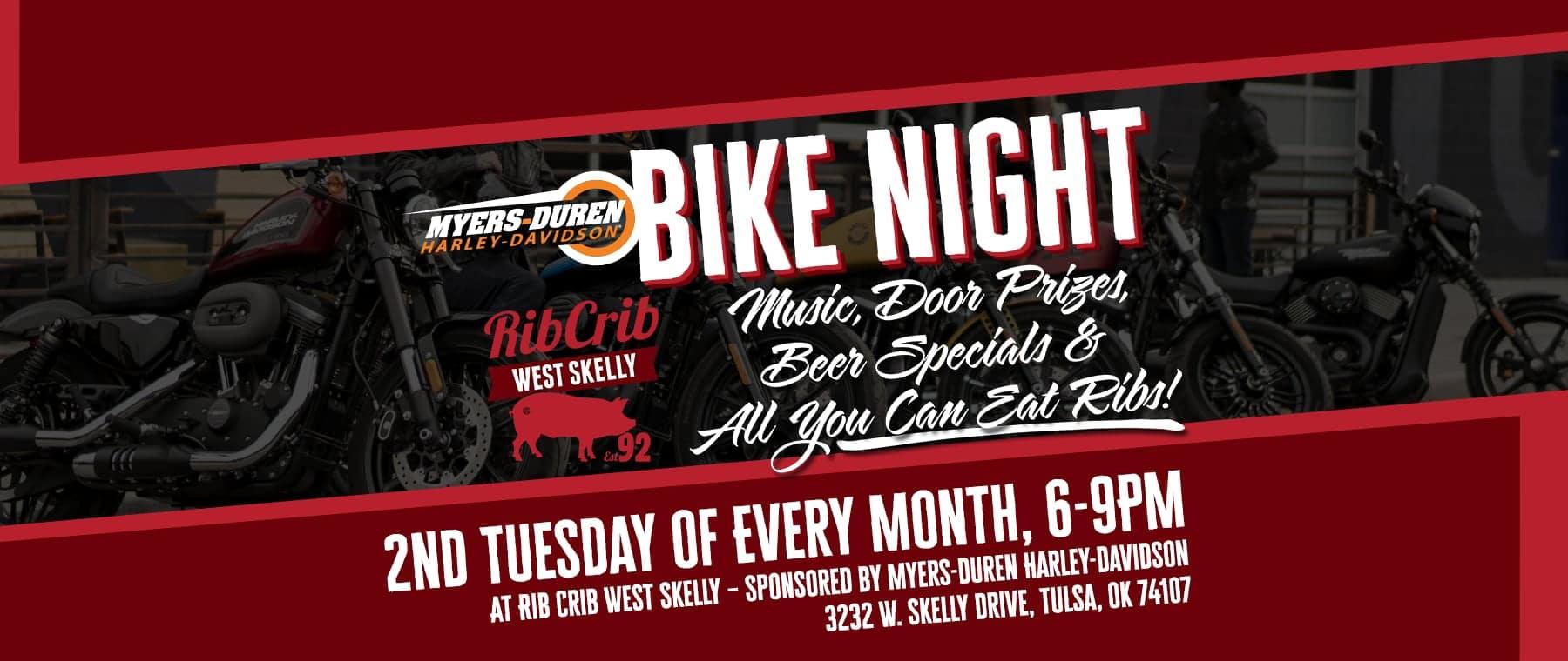 Myers-Duren H-D Bike Nights at Rib Crib West Skelly in Tulsa, Oklahoma