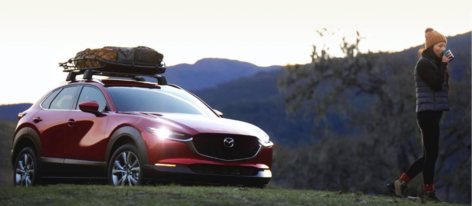 2021 Mazda3 hatchback with full cargo rack