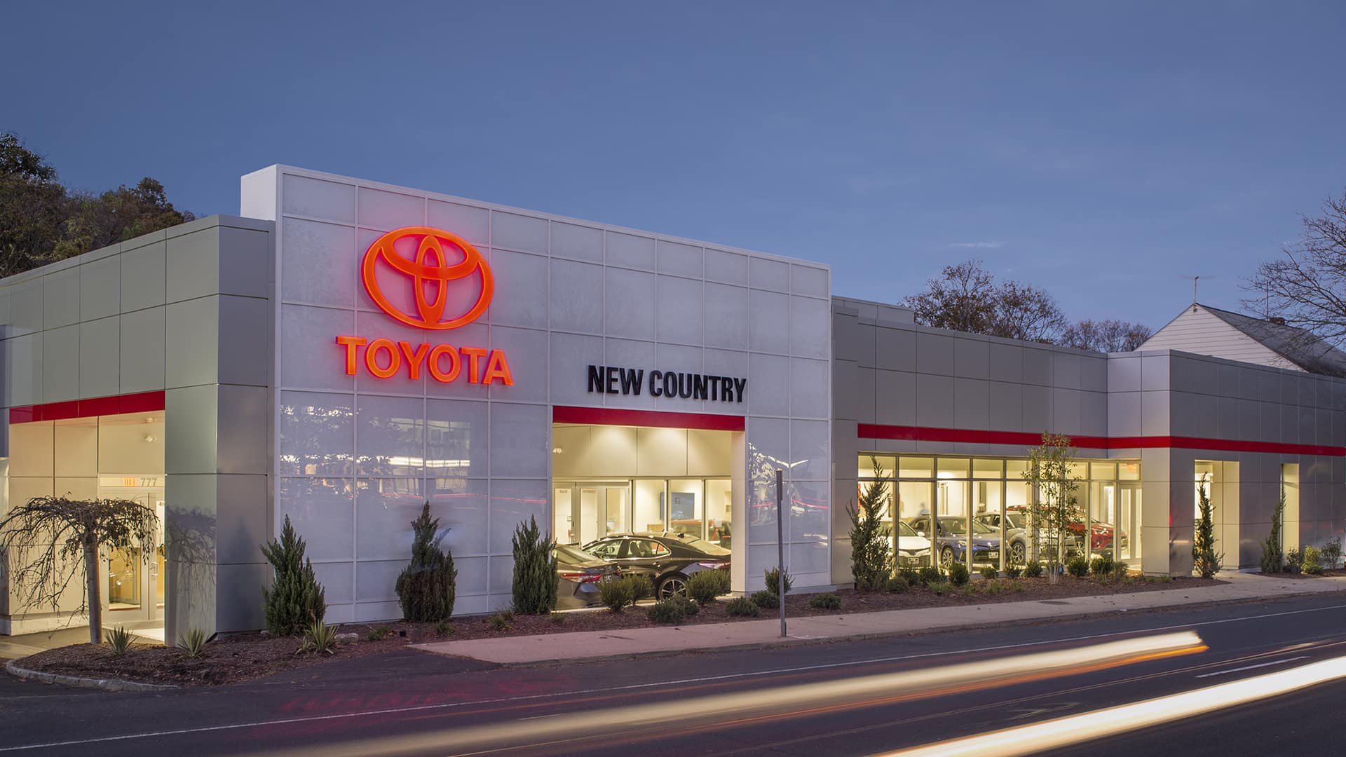 exterior shot of New Country Toyota of Westport