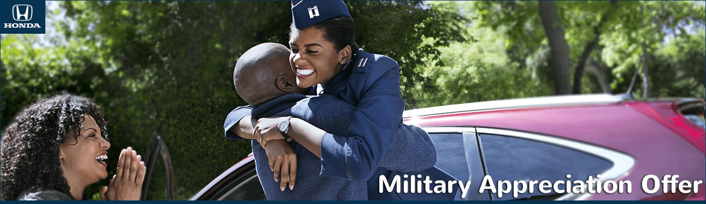 New England Honda Dealers Military Appreciation Offer