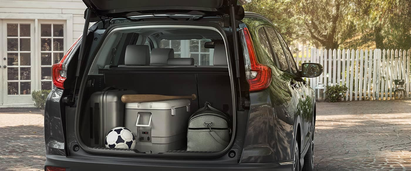 2018 Honda CR-V Cargo Area packed with sports stuff
