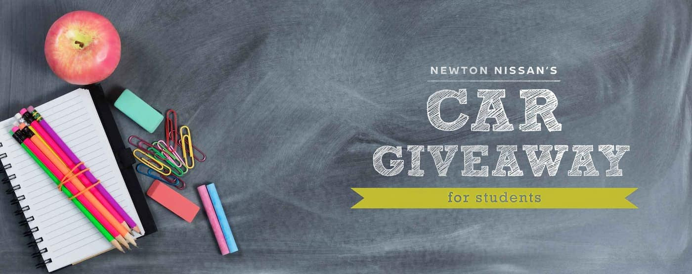 A banner is shown for the Newton Nissan car giveaway.