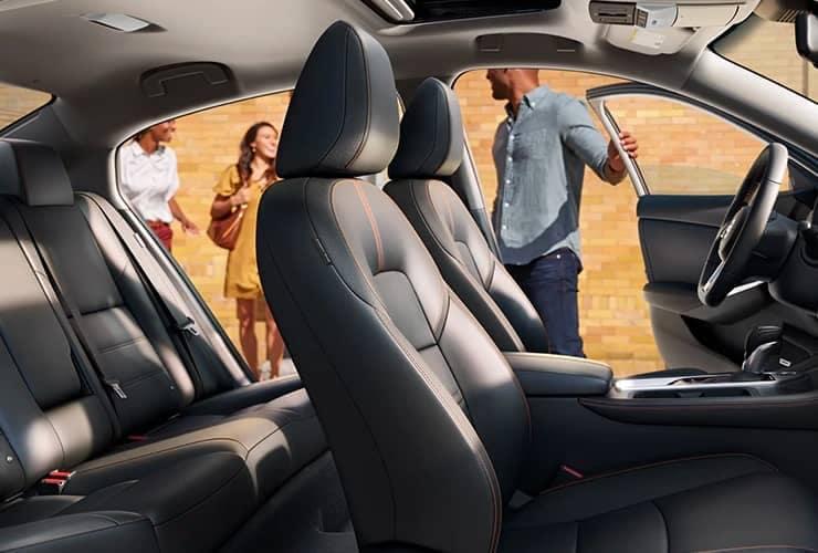 inside of Nissan vehicle, seats