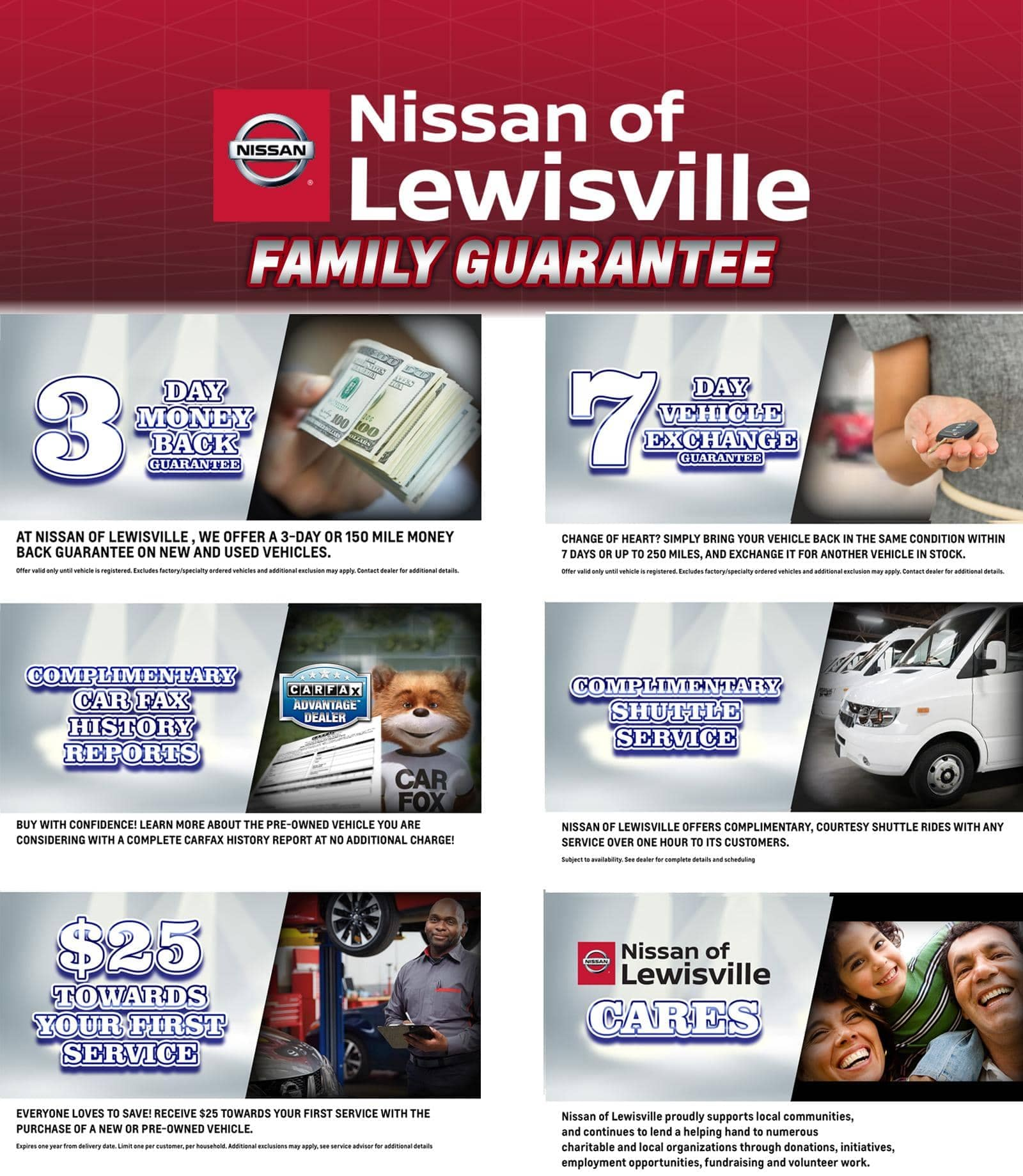 Nissan of Lewisville Family Guarantee