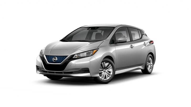 2021 Nissan LEAF S in Brillant Silver Metallic