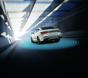 2021 Nissan Maxima Rear in Pearl White TriCoat