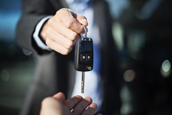 Car Keys to Customer