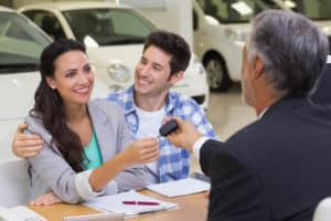 Handing Car Keys to Customer Financing