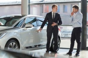 Showing Car to Customer at Dealership
