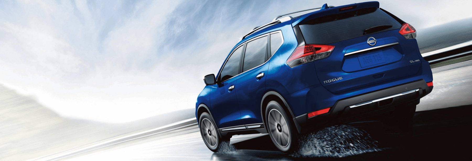 2020 Blue Rogue drives on highway road