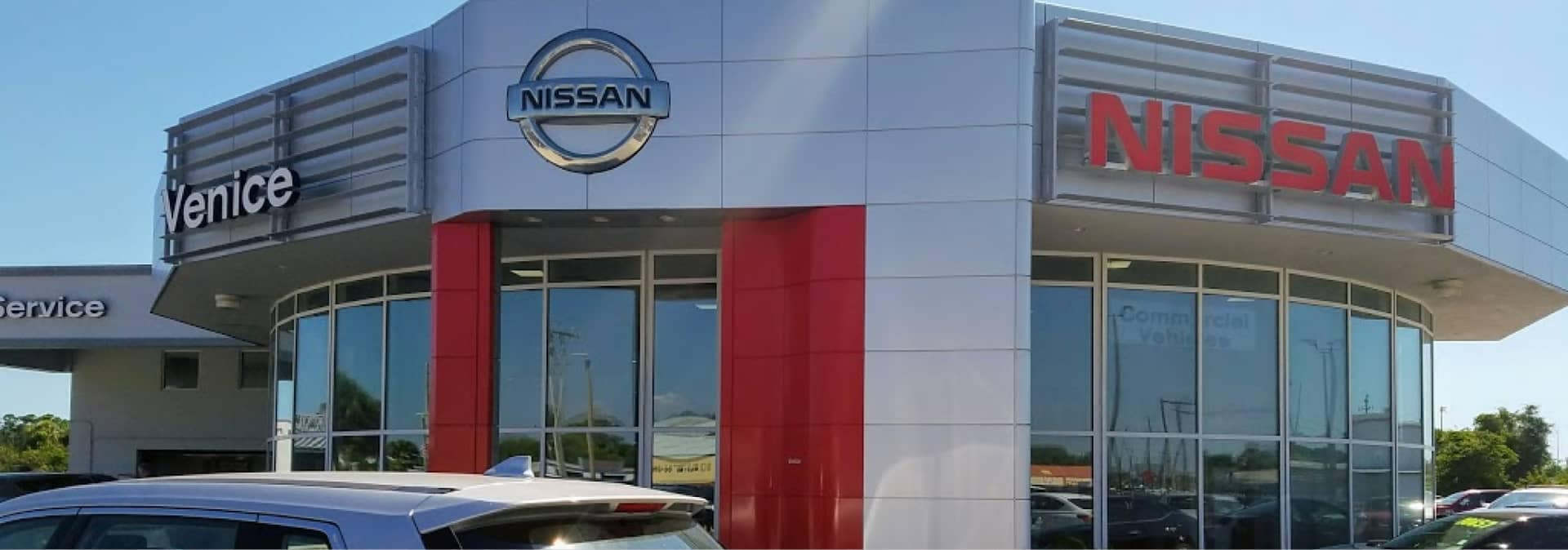 Nissan of Venice front of dealership building