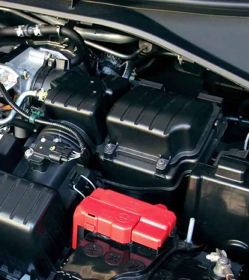 Car battery and engine