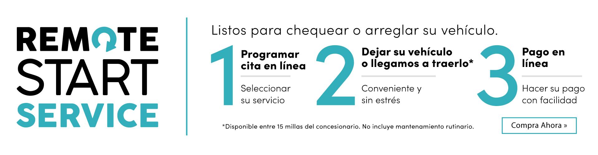 Remote start spanish service banner