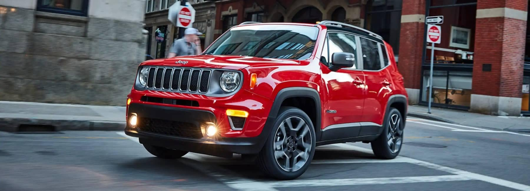 2021 Jeep Renegade driving in the city