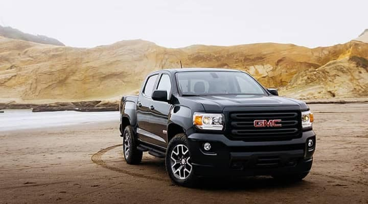 Black 2020 GMC Canyon in the desert