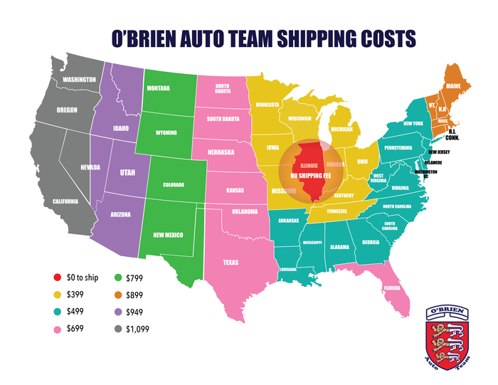 obriend shipping costs