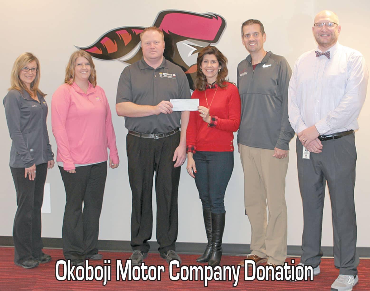 Okoboji Motor Company Donation