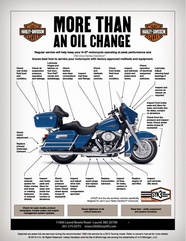 Motorcycle More than an oil change
