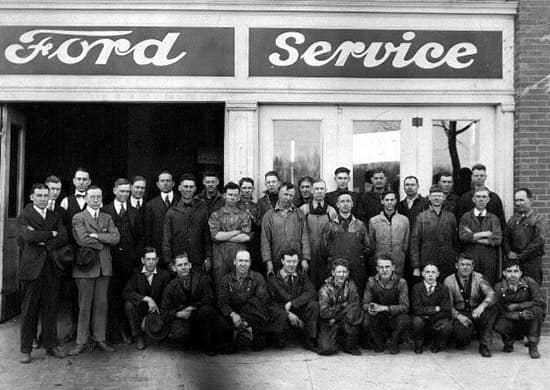 Outside Ford Service