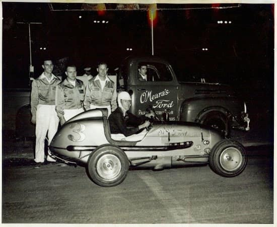 Race Car with pit crew