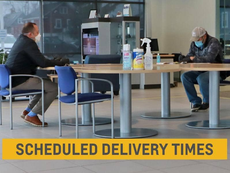 scheduled delivery times