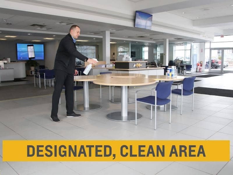 designated clean area