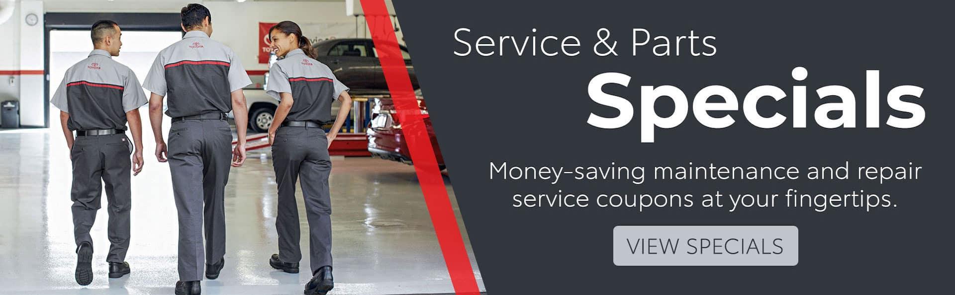 Toyota Service Parts Specials