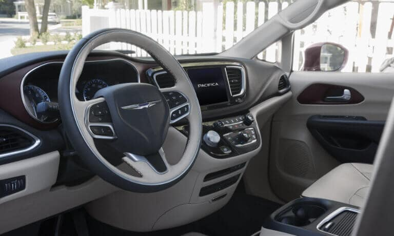 2019 Chrysler Pacifica Front Dash view from the driver side