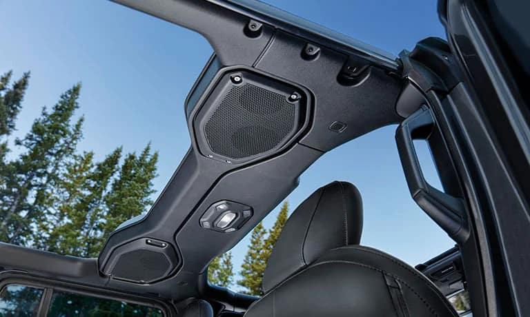 2019 Jeep Wrangler interior roof view
