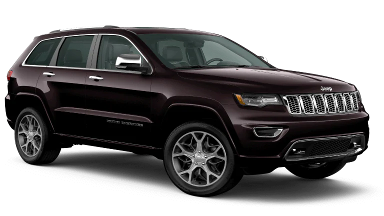 2020 Jeep Grand Cherokee Overland in maroon