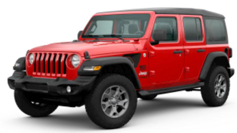 2020 Jeep Wrangler Freedom in red