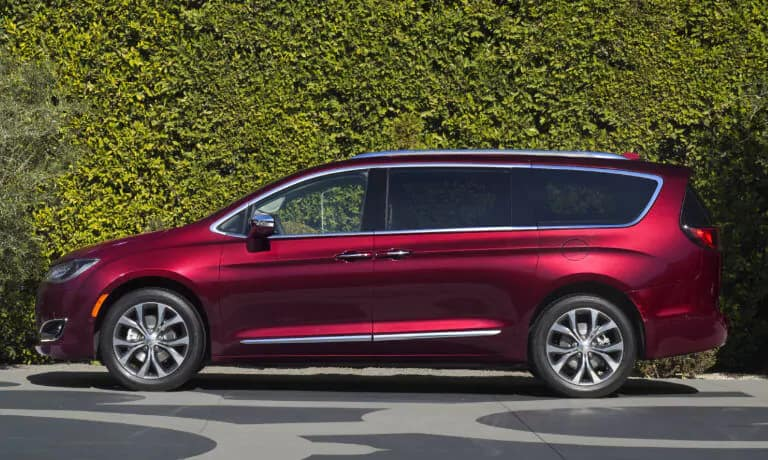 A red 2019 Chrysler Pacifica