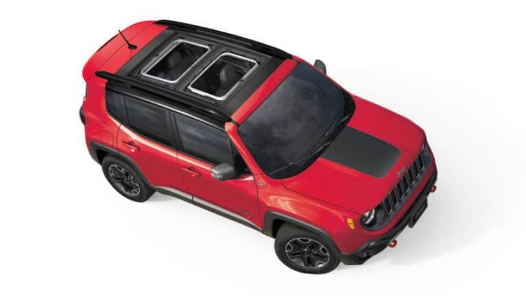 Red 2019 Jeep Renegade top view