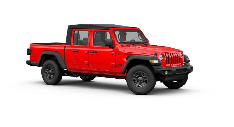 Red 2020 Jeep Gladiator Sport