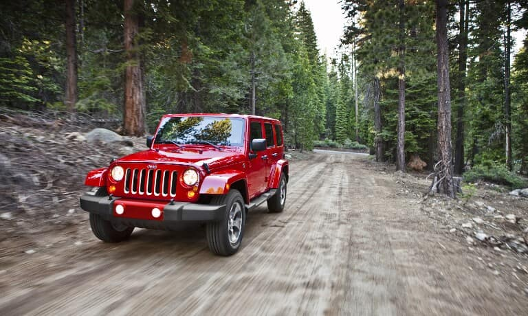 Red 2017 Jeep Wrangler